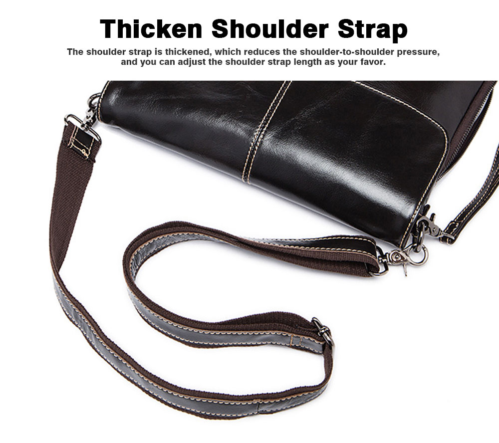 Fashion Business Flip Shoulder Bag Crossbody Bag for Men, Soft Smooth Top Layer Leather Briefcase Messenger Laptop Bag 5