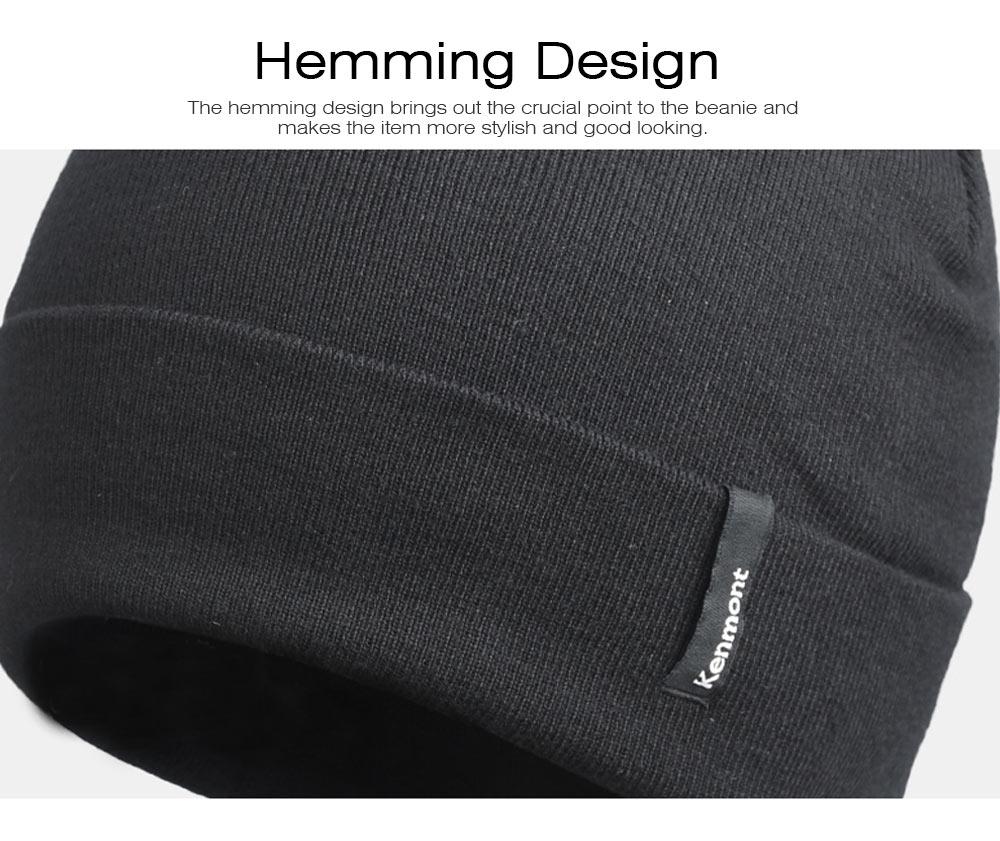 Minimalist Double Layers Winter Autumn Unisex Beanie, Ultra-soft Skin-friendly Viscose Fiber Polyester Elastic Hat for Men Women 3
