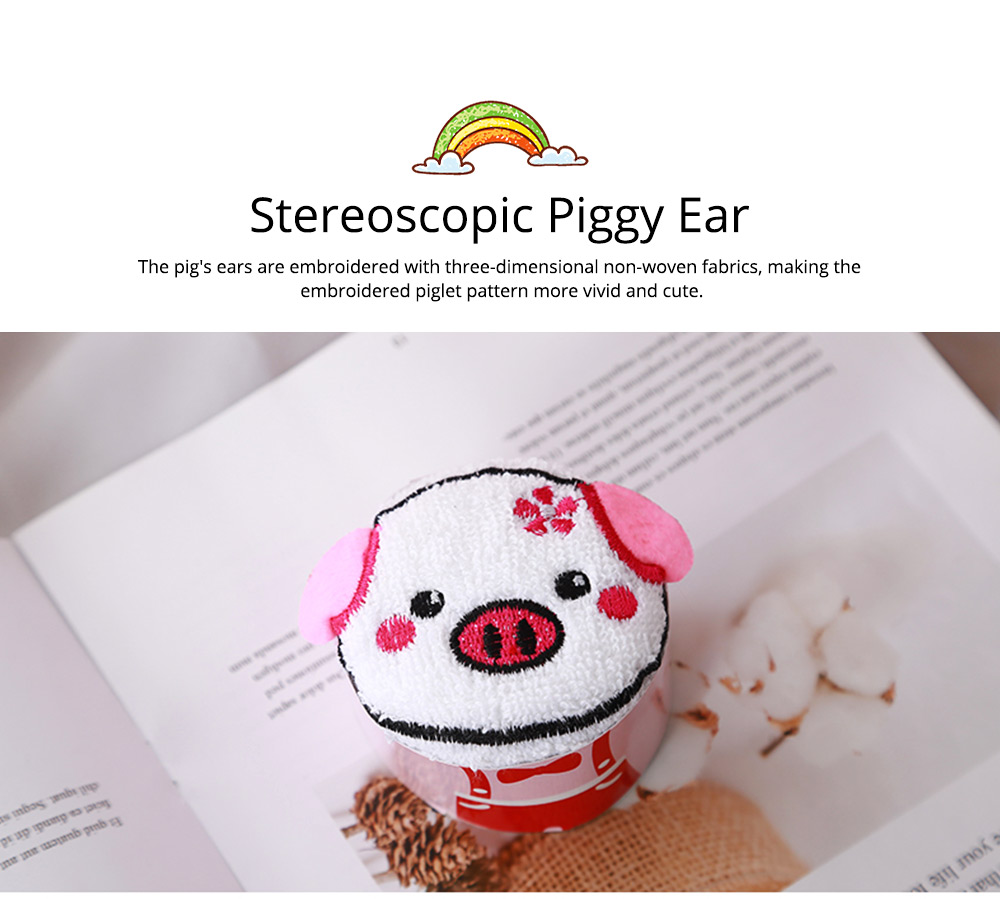 Cute Delicate Pig Pattern Embroidery Little Towel for Children, Creative Lively Piggy Towel Gift Box for Lovers Girls Friends 4