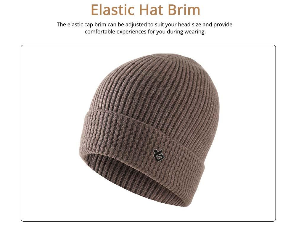 Ultra-soft Warm Thicken Angora Men Beanie, Minimalist Double-layers Winter Autumn Knitted Cap Hat 3