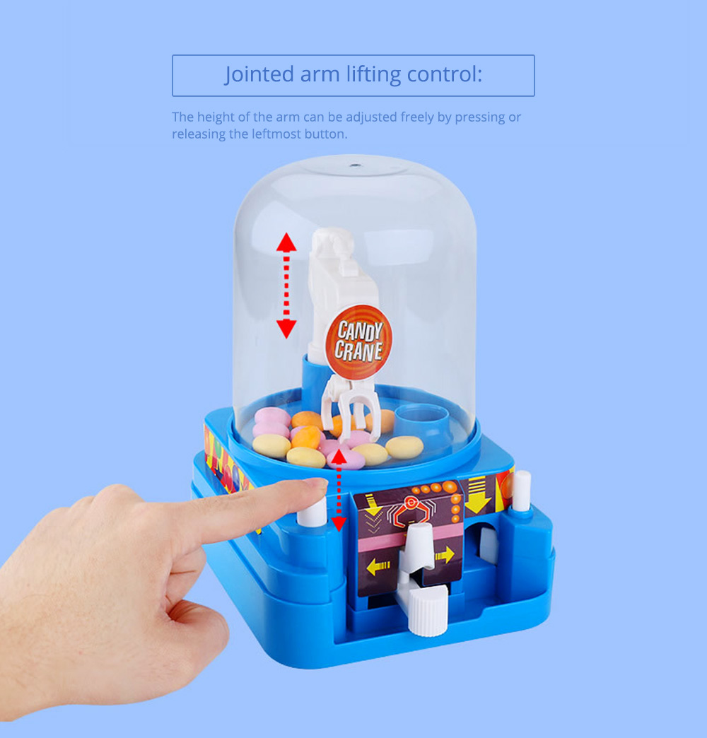 Creative Candy Clamping Machine Toy with Flexible Articulated Arm, Funny Carton Candy Sugar Crane Manual Machine for Children 10