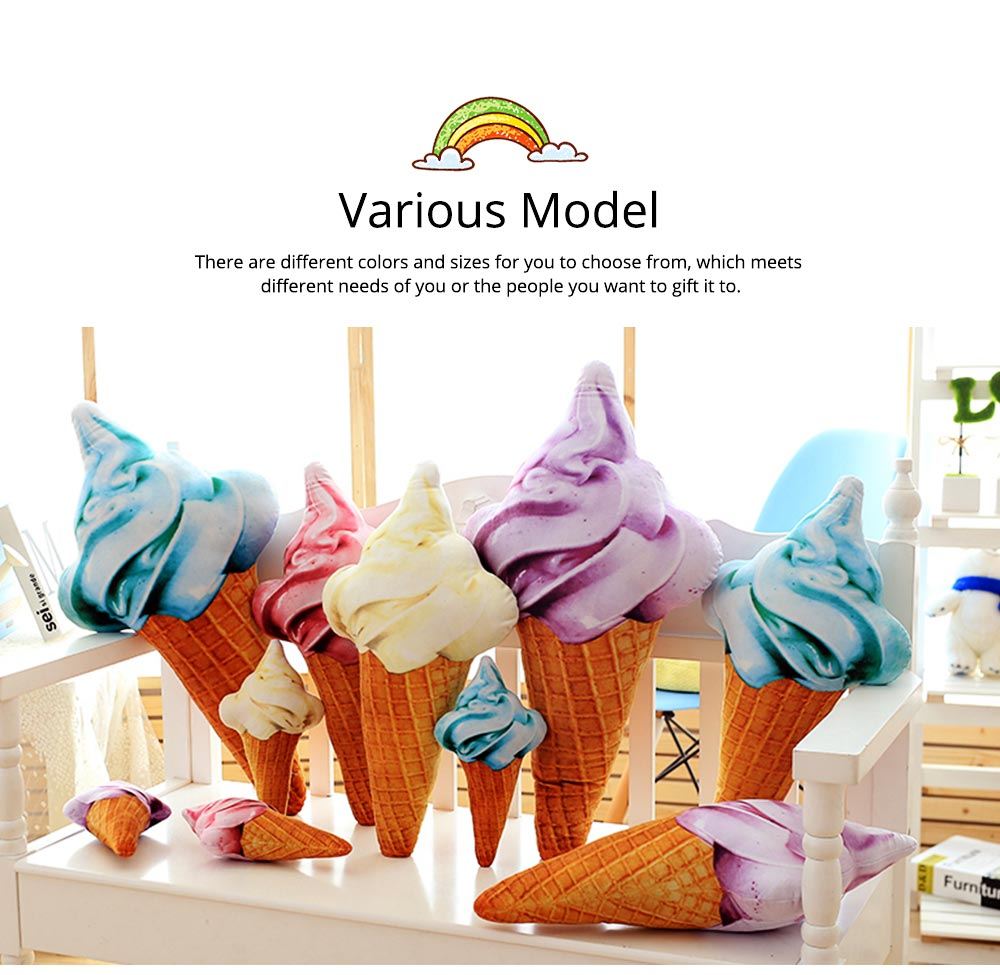 Cute Creative Life-like Ice Cream Model Bolster Toy, Elegant Simulation Pillow Doll Home Decoration Children Present Gift 5