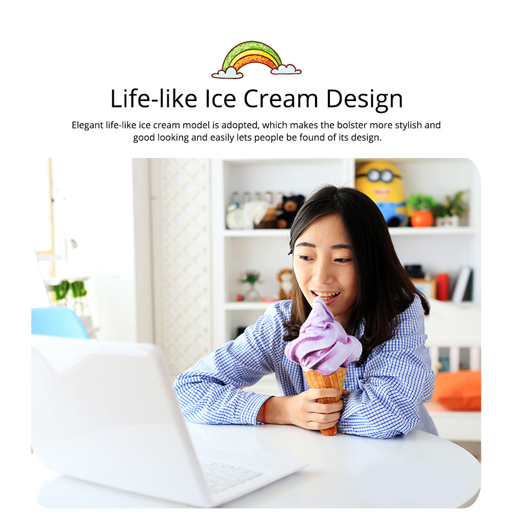 Cute Creative Life-like Ice Cream Model Bolster Toy, Elegant Simulation Pillow Doll Home Decoration Children Present Gift 2