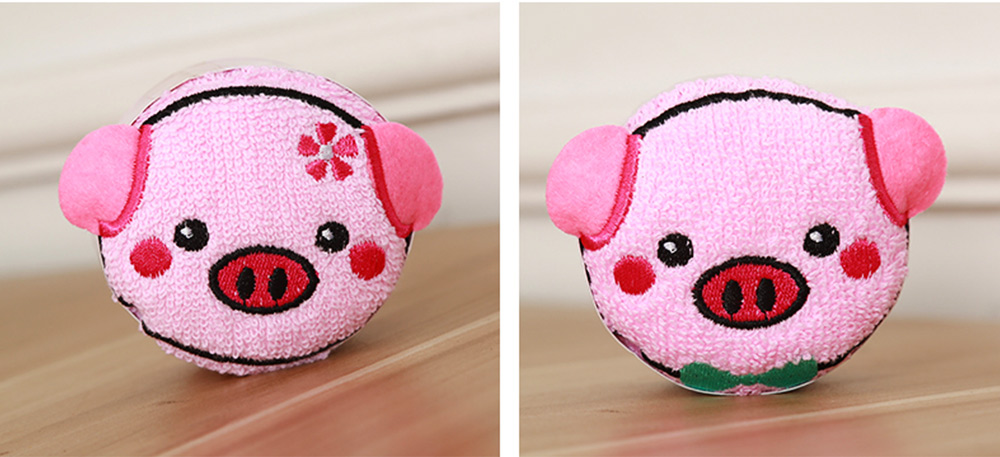 Cute Delicate Pig Pattern Embroidery Little Towel for Children, Creative Lively Piggy Towel Gift Box for Lovers Girls Friends 5