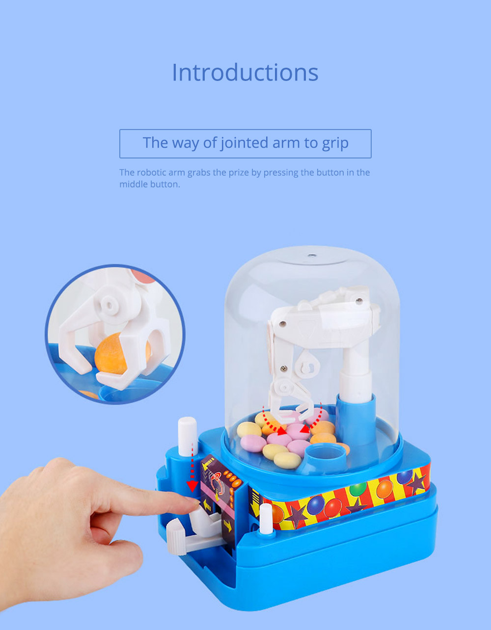 Creative Candy Clamping Machine Toy with Flexible Articulated Arm, Funny Carton Candy Sugar Crane Manual Machine for Children 9