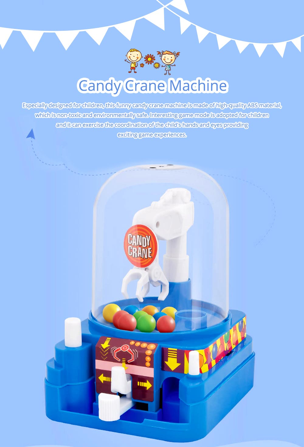Creative Candy Clamping Machine Toy with Flexible Articulated Arm, Funny Carton Candy Sugar Crane Manual Machine for Children 0