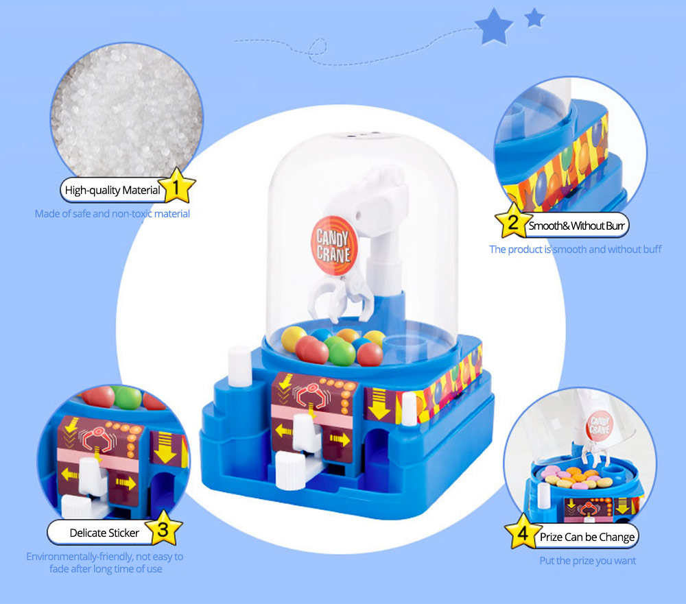 Creative Candy Clamping Machine Toy with Flexible Articulated Arm, Funny Carton Candy Sugar Crane Manual Machine for Children 2