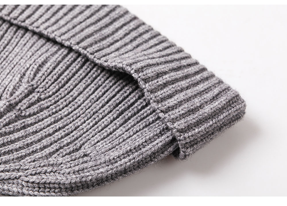 Minimalist Fashion Men Warm Knitted Wool Beanie, Winter Autumn Ultra-soft Elastic Acrylic Hat Cap for Men 2