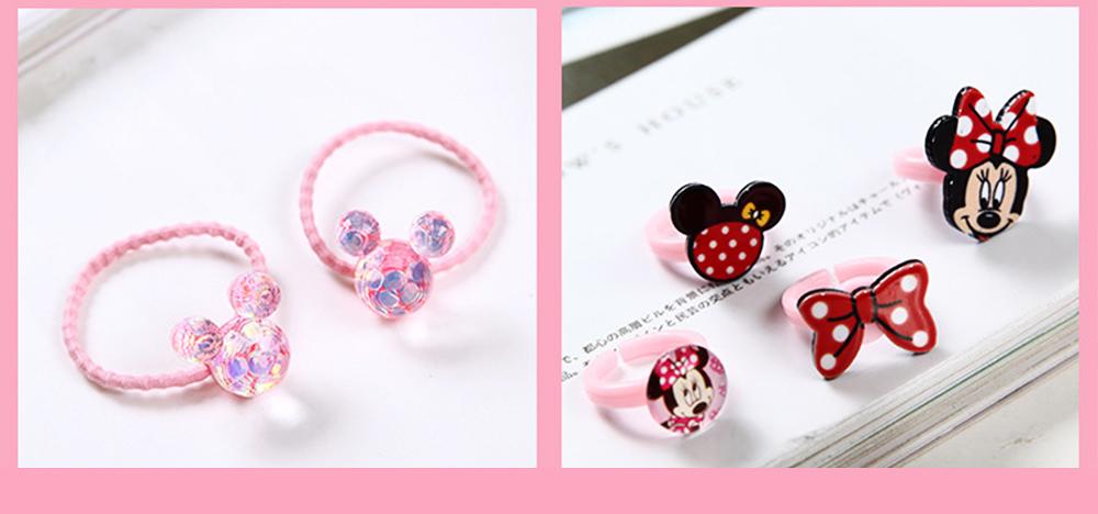 Creative Elegant Hair Accessories Necklace Bracelet Rings Suit, Cute Carton Decoration Acrylic Hand Bag Box Present for Girls 2