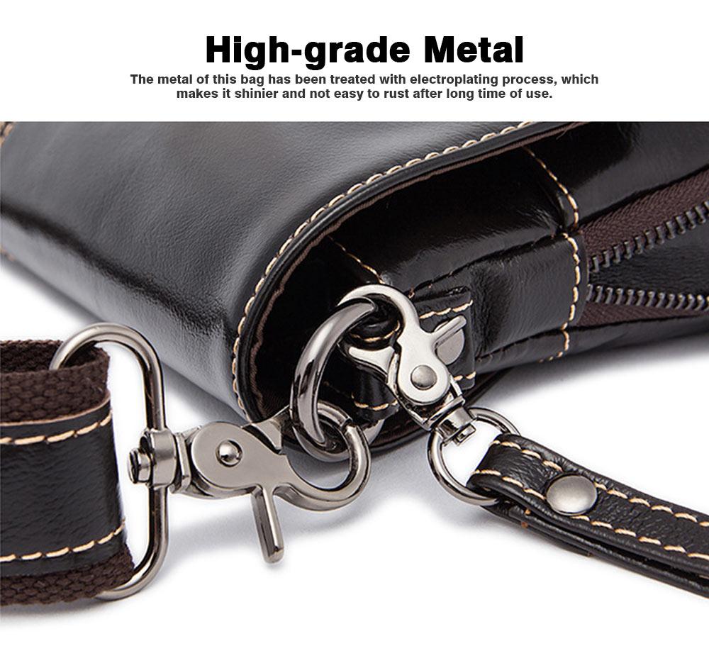 Fashion Business Flip Shoulder Bag Crossbody Bag for Men, Soft Smooth Top Layer Leather Briefcase Messenger Laptop Bag 2