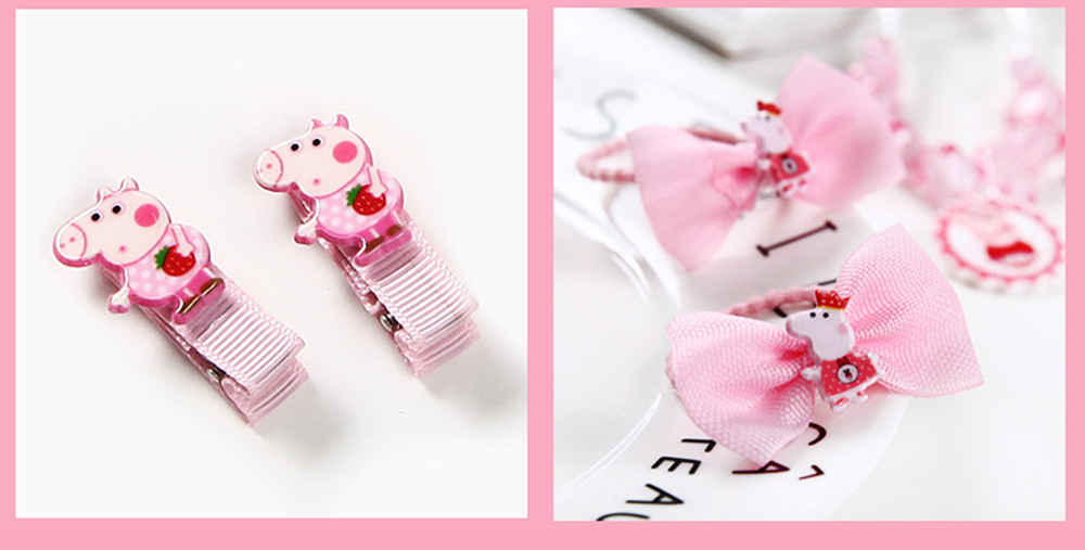 Creative Elegant Hair Accessories Necklace Bracelet Rings Suit, Cute Carton Decoration Acrylic Hand Bag Box Present for Girls 4