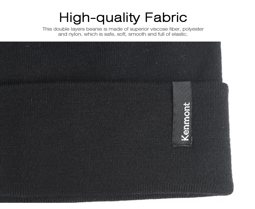 Minimalist Double Layers Winter Autumn Unisex Beanie, Ultra-soft Skin-friendly Viscose Fiber Polyester Elastic Hat for Men Women 1