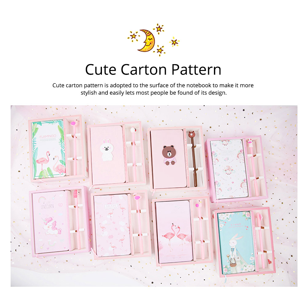Cute Cartoon Notepads with Pen, Fancy Notepads & Pens Set Gifts for Girls 7