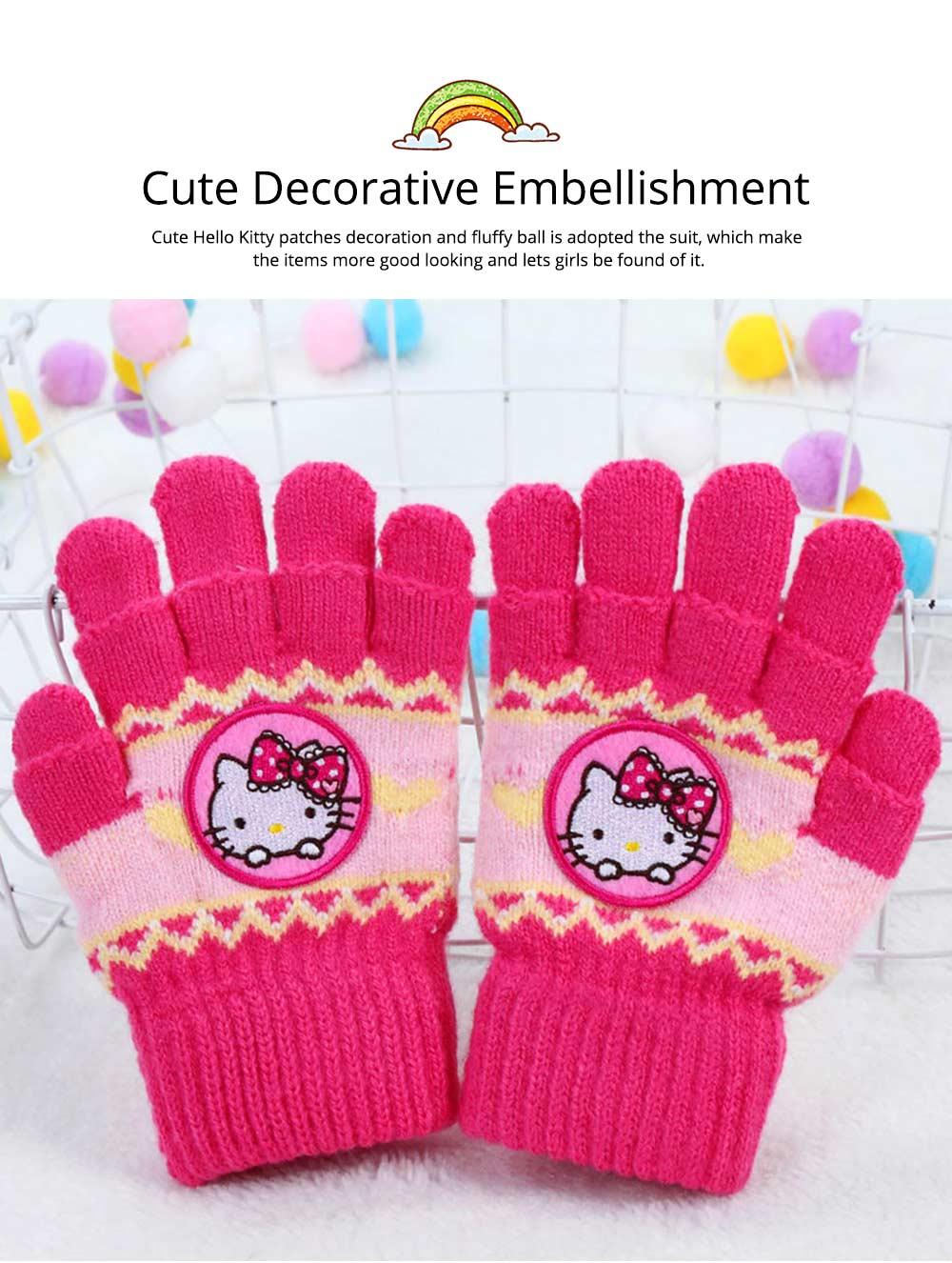 8b3a31a77 Cute Warm Children Beanie Cap Scarf Gloves 3 Pcs Suit with Hello ...