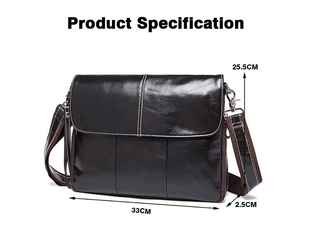 Fashion Business Flip Shoulder Bag Crossbody Bag for Men, Soft Smooth Top Layer Leather Briefcase Messenger Laptop Bag 8