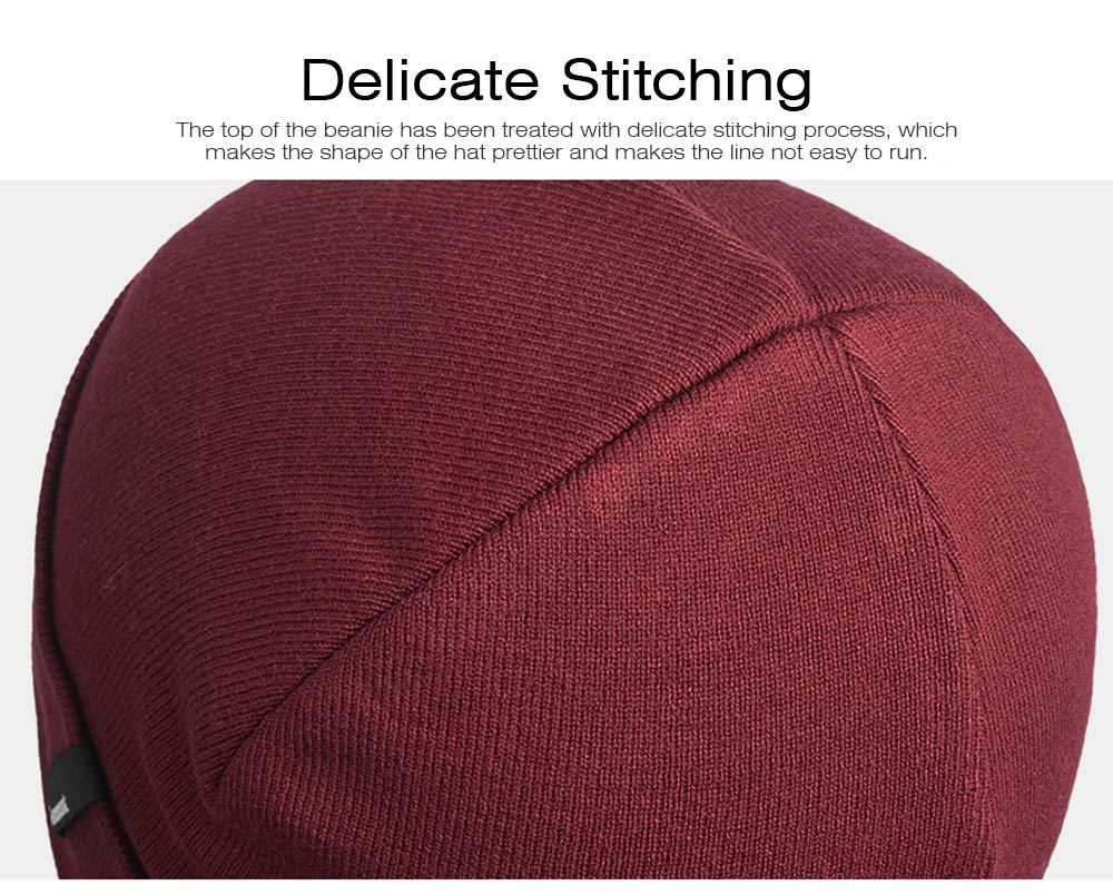 Minimalist Double Layers Winter Autumn Unisex Beanie, Ultra-soft Skin-friendly Viscose Fiber Polyester Elastic Hat for Men Women 4