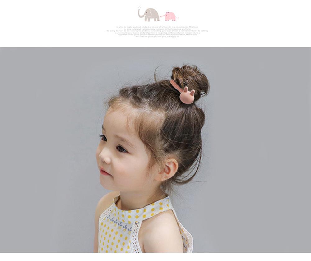 Fancy Beautiful Elastic Hair Band, Cartoon Animal Star Round Model Hair Rope Set with Bear Storage Box 4