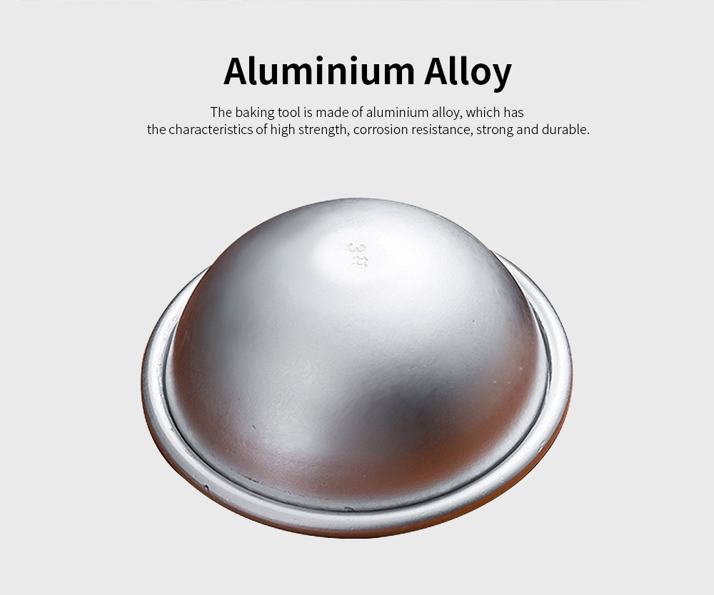 Metal Bath Bomb Ball Molds, Aluminum Alloy Semicircle DIY Baking Tool Jelly Pudding Small Cake Mould 1
