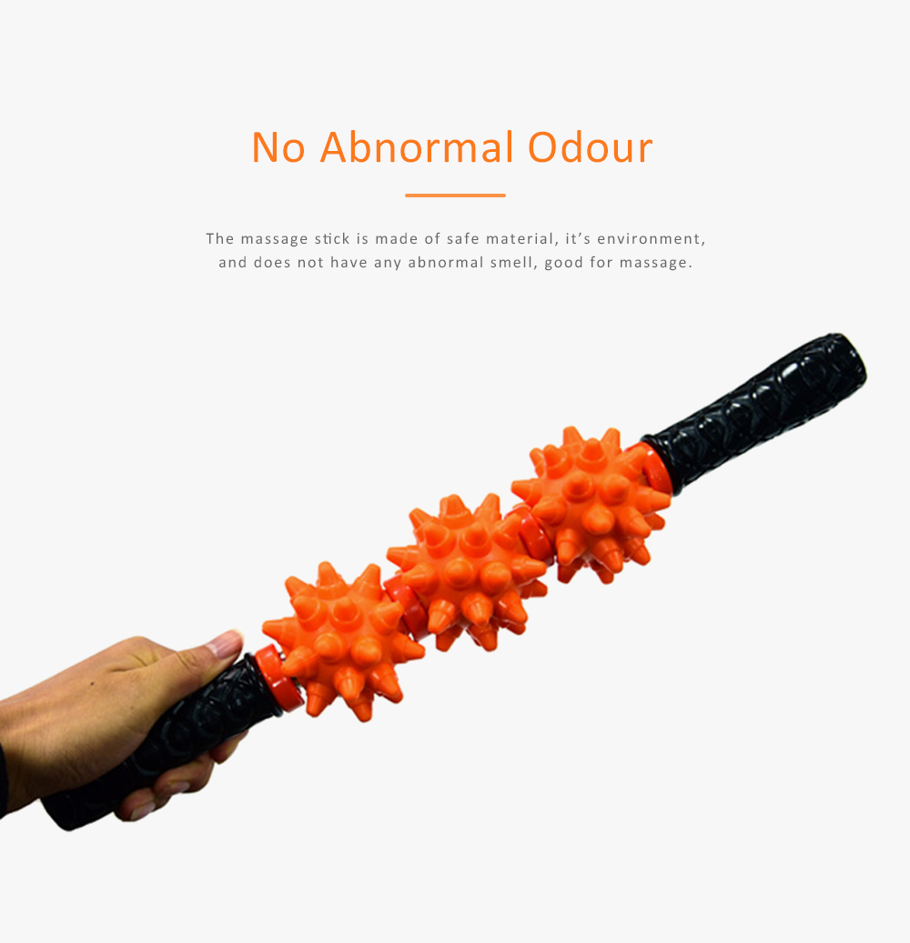 Massage Stick TPR Material Bumps Shape for Fitness Relaxing Massage Body-building Device 6