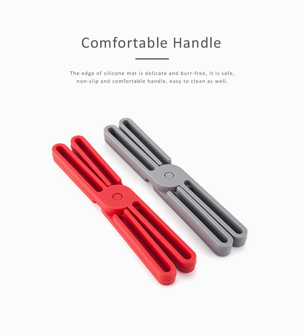 Expandable Silicone Trivet, Folding Pot Mat Heatproof Holder for Table Bowl Dish Durable Heat Pad 2