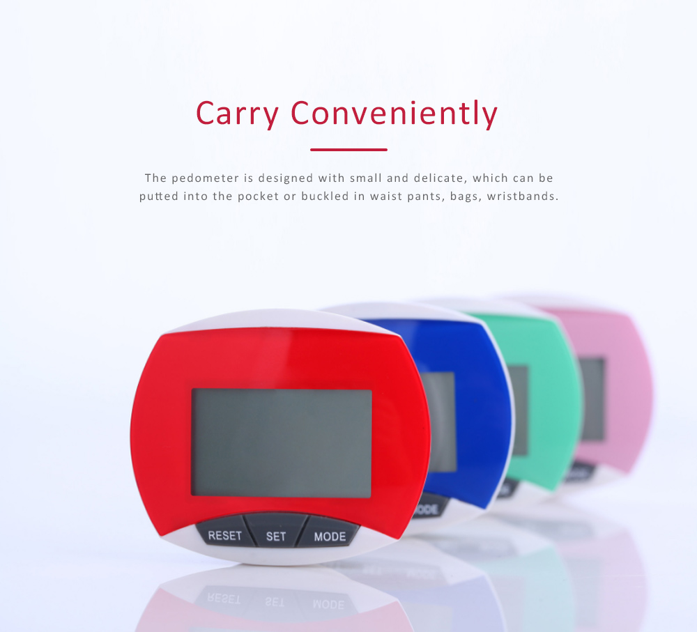 Small Acrylic Pedometer for Calculating Step Multifunction Electronic Sport Device 2