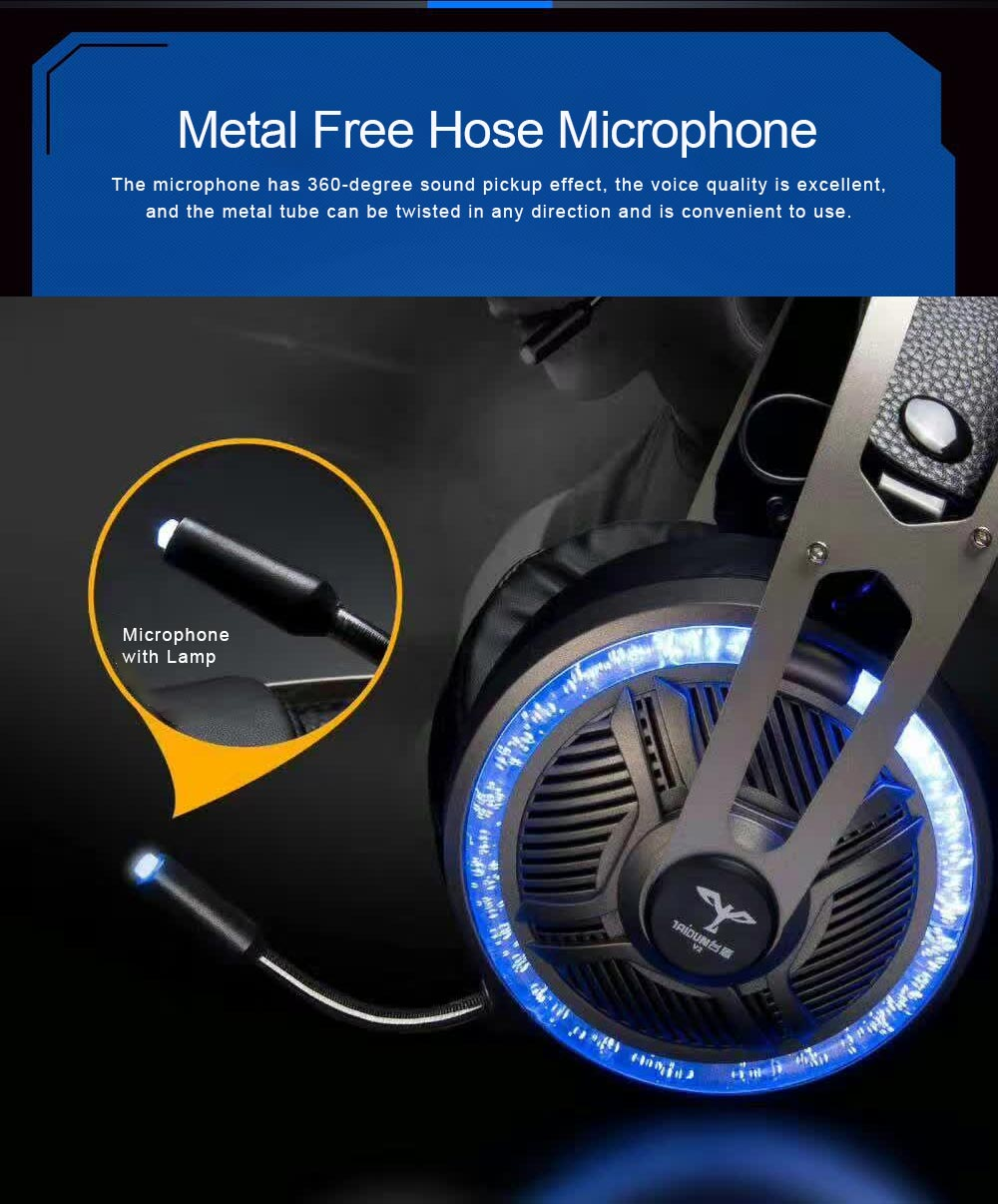 Headset for Video Games Luminescence Metal with Microphone High Quality Professional E-sports Headphones 4