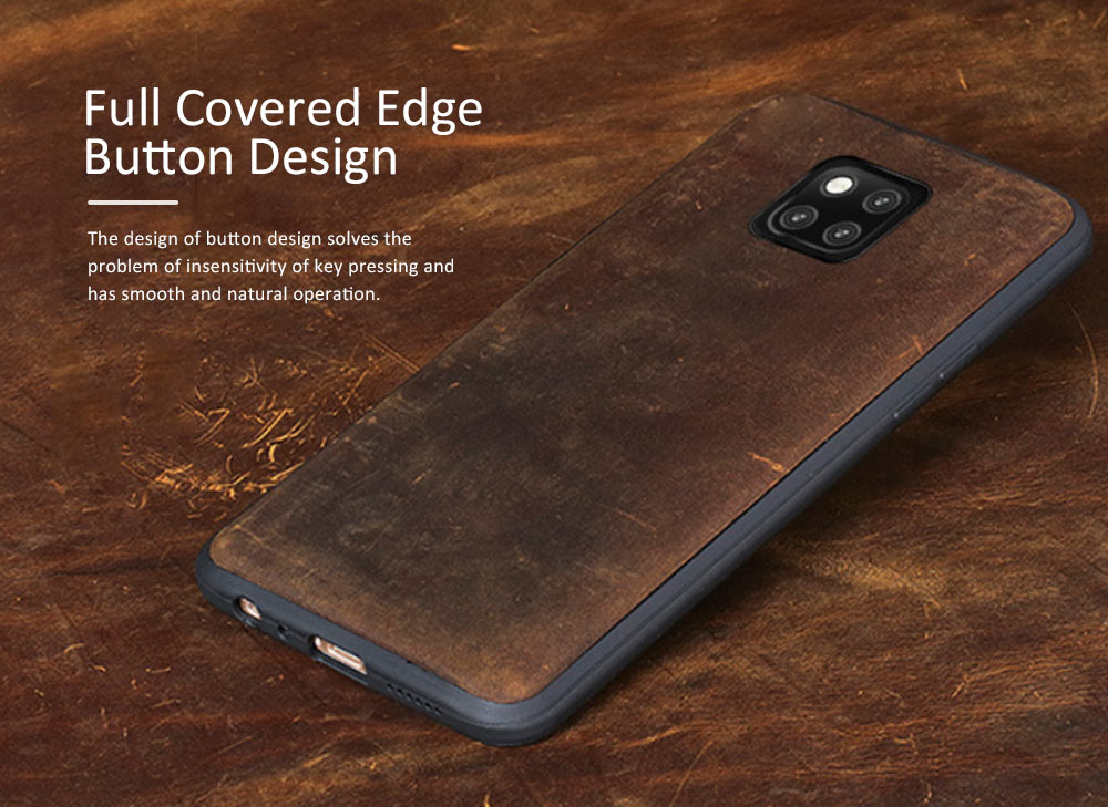 Retro Cowhide Mobile Phone Leather Case for HUAWEI Mate 20 & Mate 10 pro & 20X & 8X & Mate 20 lite Mobile Protect Cover 11
