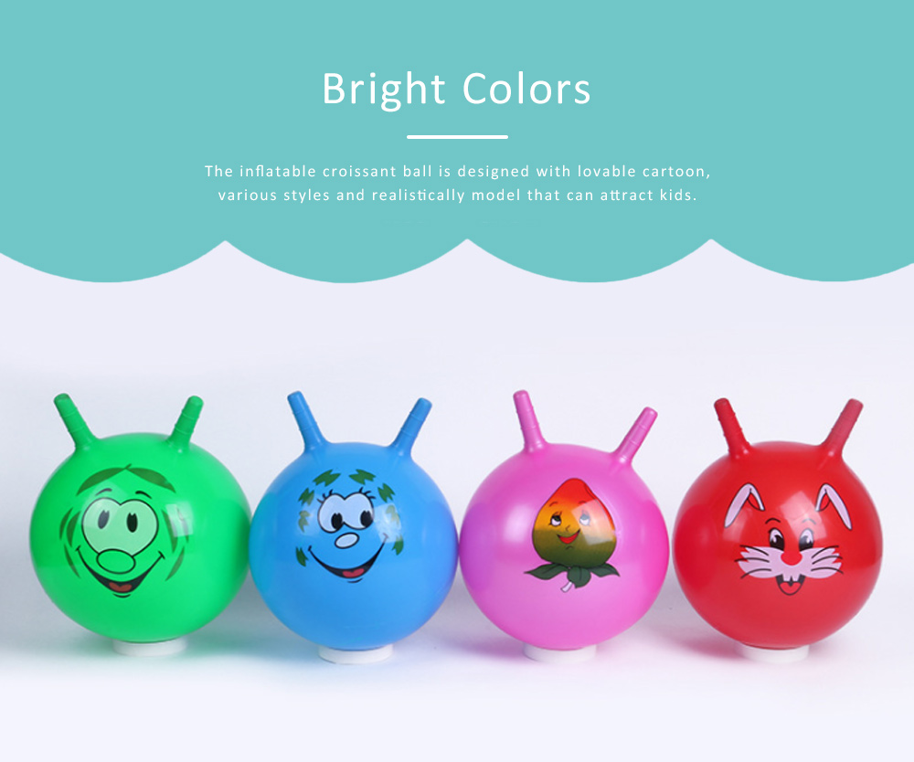 Inflatable Croissant Ball Cartoon Design PVC Material for Children Explosion-proof Inflate Toys 4