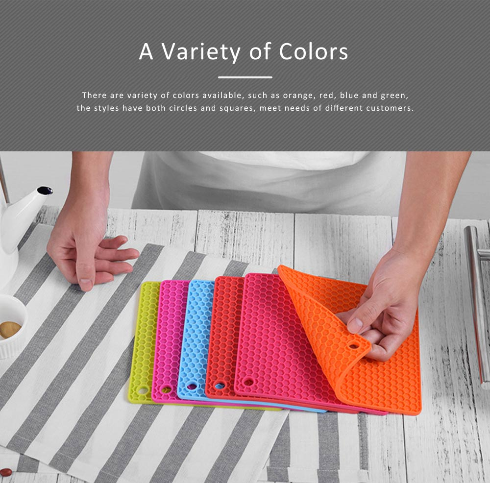 Insulation Mat Honeycomb Silicone Material Elastic for Hot Vessels Pad Anti-slip Table Holder 5