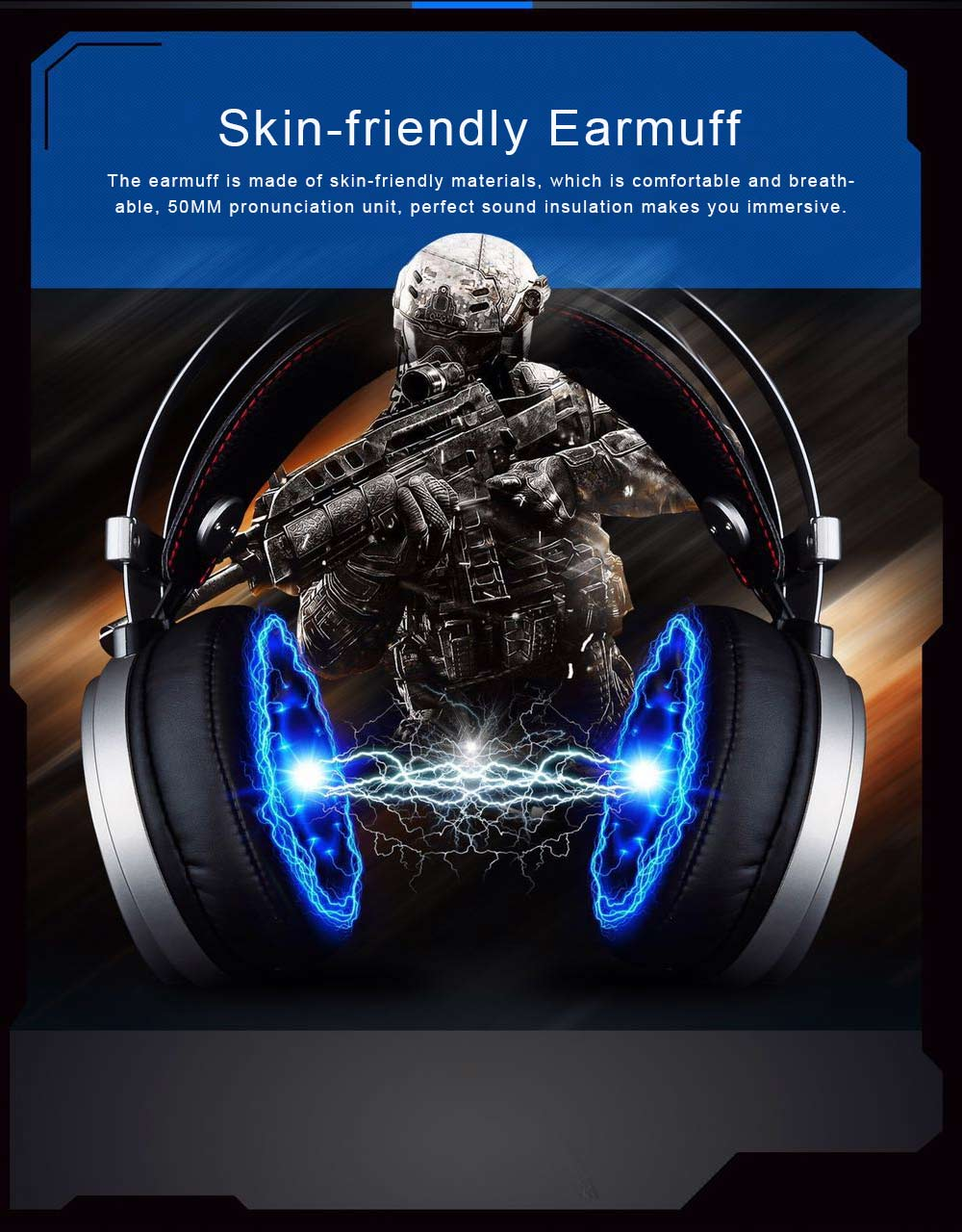 Headset for Video Games Luminescence Metal with Microphone High Quality Professional E-sports Headphones 6