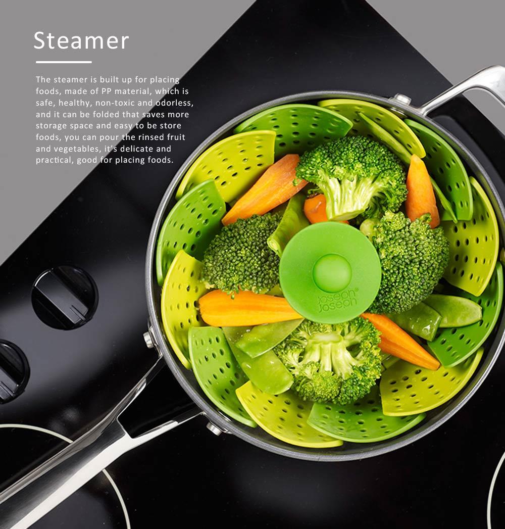 Steamer PP Folding Rack for Placing Foods Fruit Kitchen Tool Plastic Basket 0