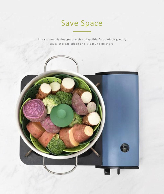Steamer PP Folding Rack for Placing Foods Fruit Kitchen Tool Plastic Basket 2