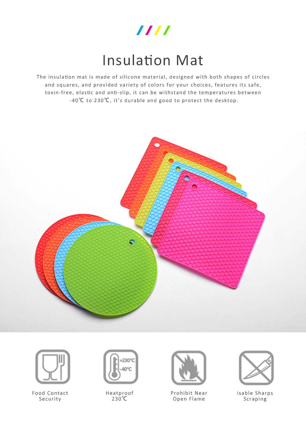 Insulation Mat Honeycomb Silicone Material Elastic for Hot Vessels Pad Anti-slip Table Holder 0