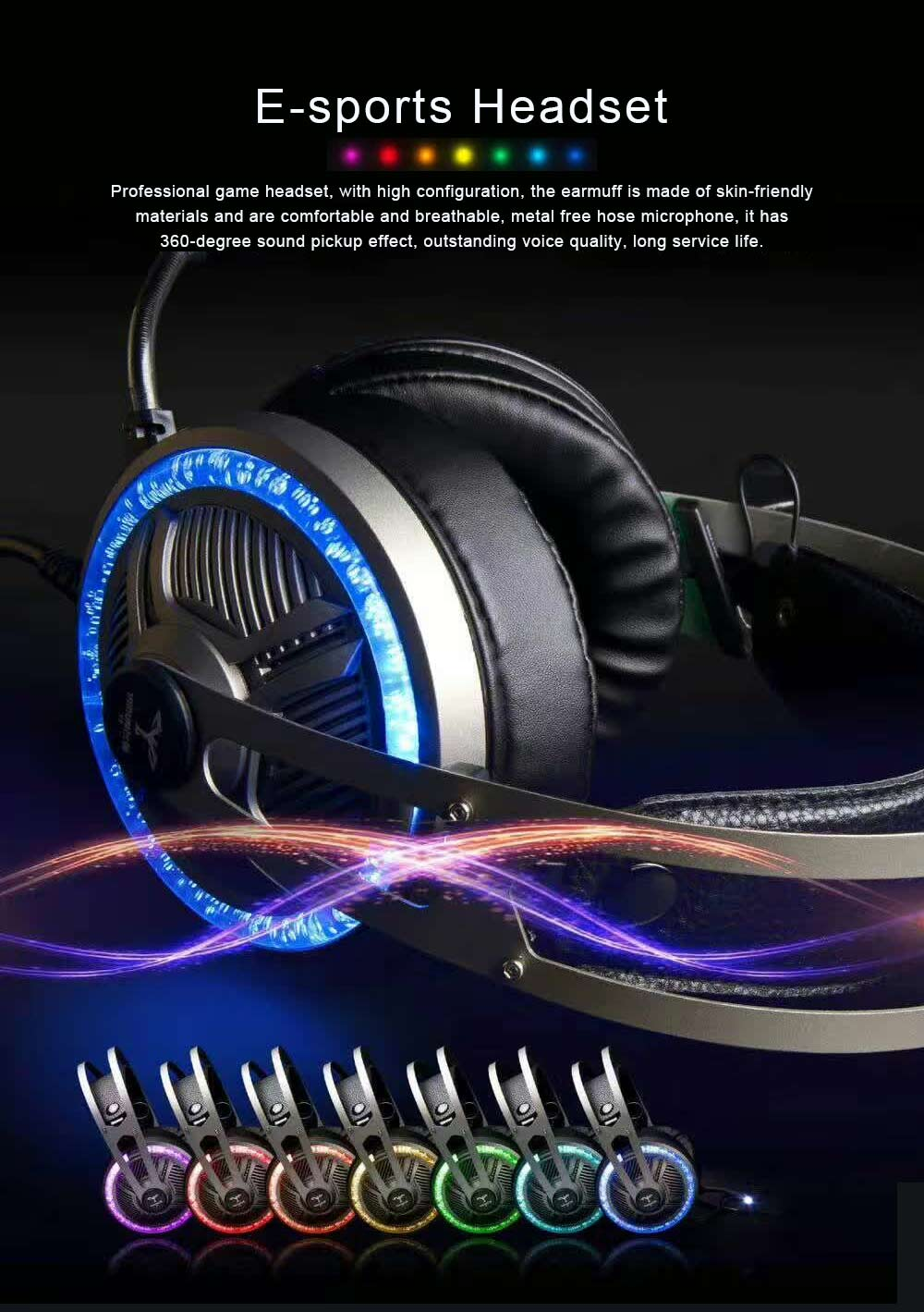 Headset for Video Games Luminescence Metal with Microphone High Quality Professional E-sports Headphones 0