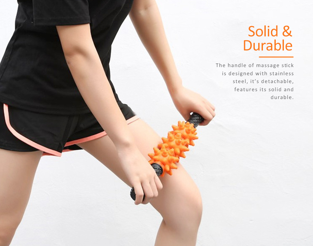 Massage Stick TPR Material Bumps Shape for Fitness Relaxing Massage Body-building Device 4