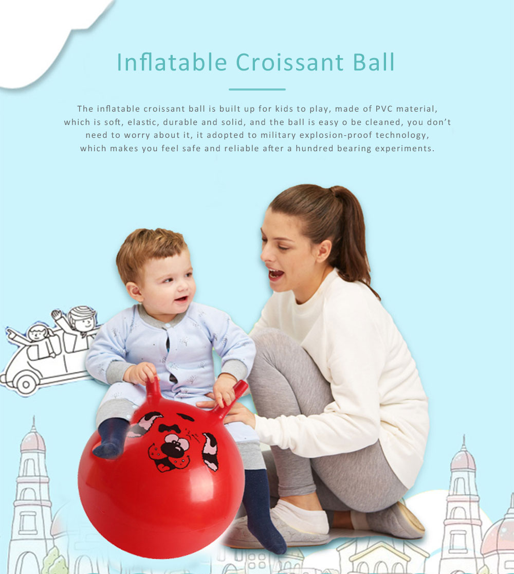 Inflatable Croissant Ball Cartoon Design PVC Material for Children Explosion-proof Inflate Toys 0