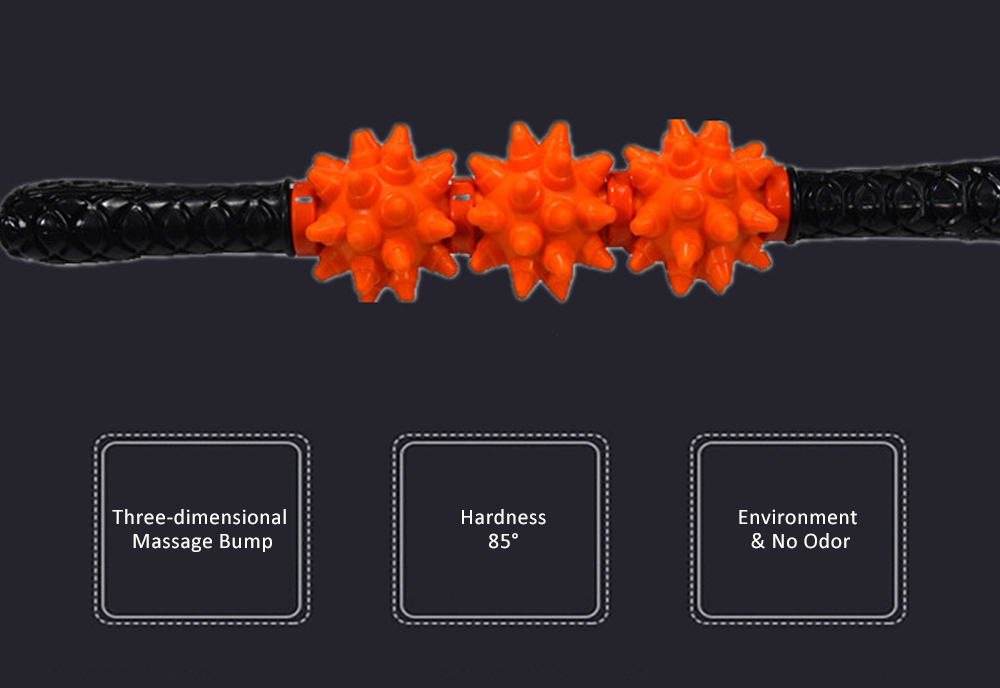 Massage Stick TPR Material Bumps Shape for Fitness Relaxing Massage Body-building Device 2