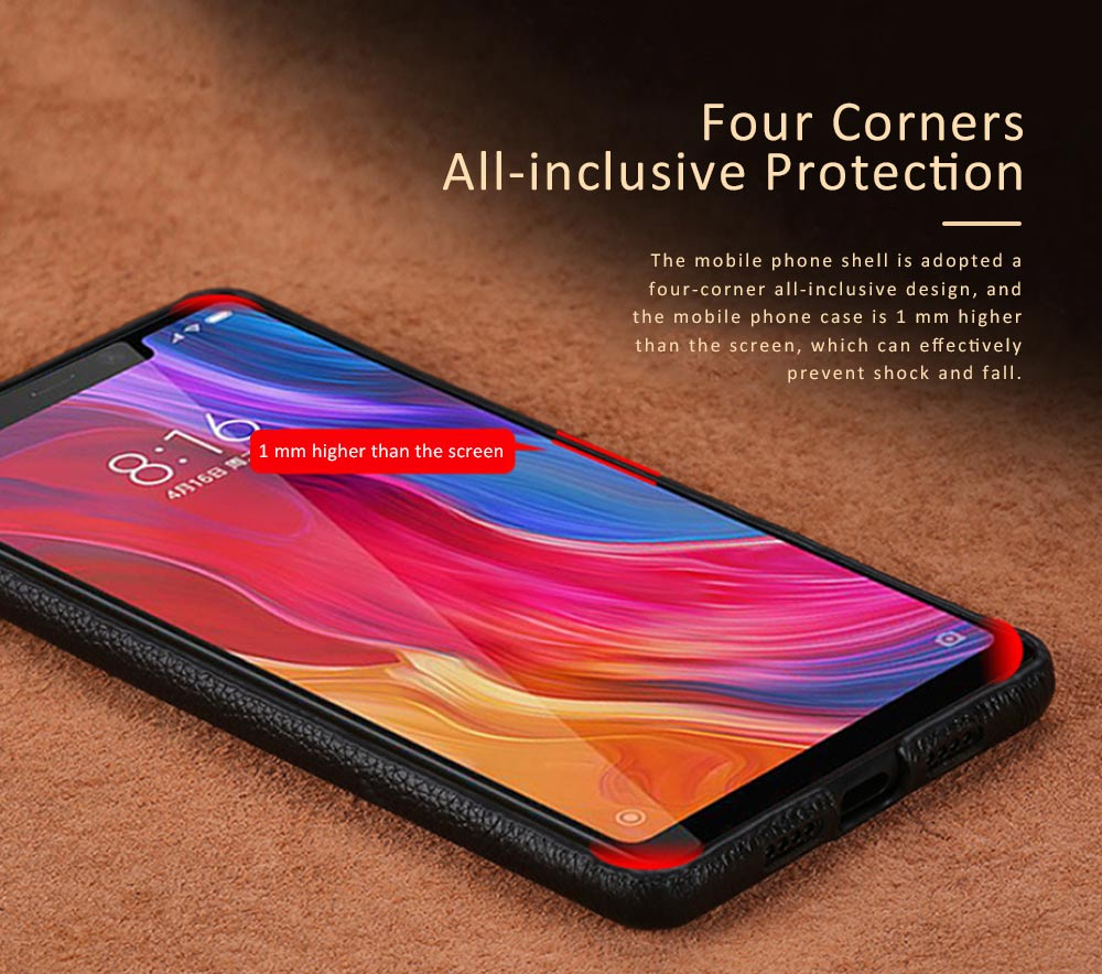 Leather Mobile Phone Shell for Xiaomi 8 Mix2s Xiaomi 6 Mix2 Mobile Protect Covers Durable Case Custom-made 1