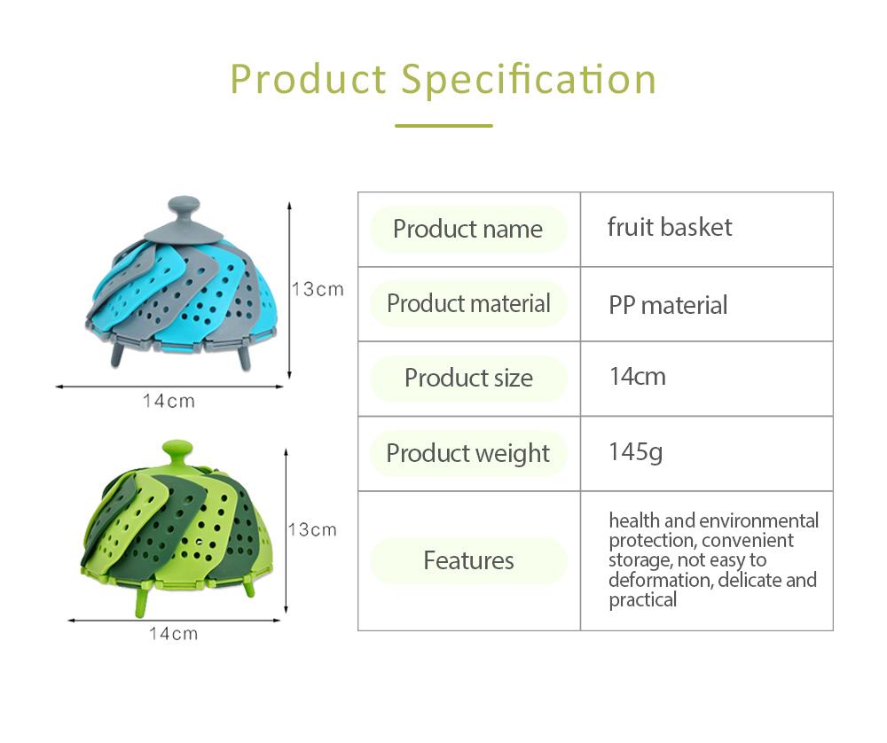 Steamer PP Folding Rack for Placing Foods Fruit Kitchen Tool Plastic Basket 6