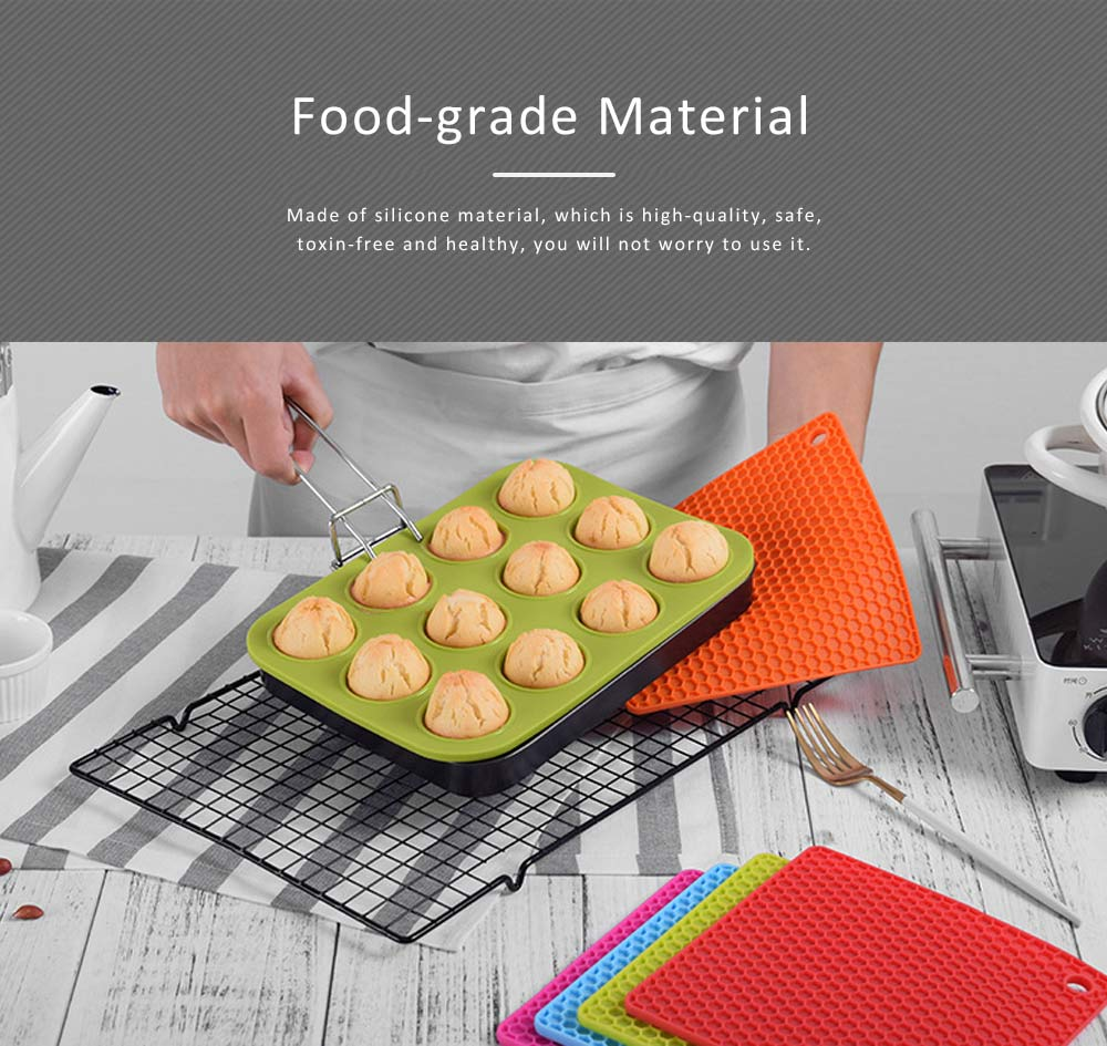 Insulation Mat Honeycomb Silicone Material Elastic for Hot Vessels Pad Anti-slip Table Holder 1