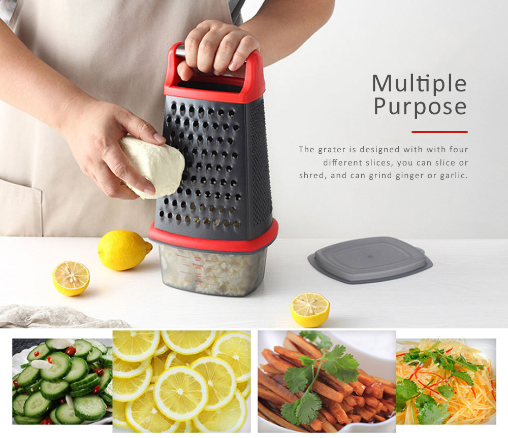 Grater Stainless Steel ABS Material for Kitchen Foods Fruit Cutter Garlic Grind Machine Non-stick Slicer 2