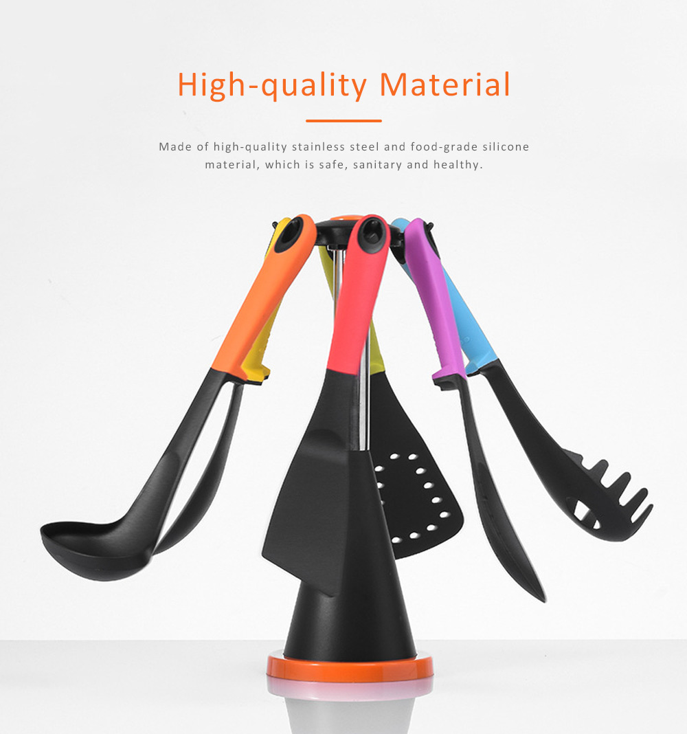 Kitchen Spoon Shovel Strainer Leak Stainless Steel Silicone Material for Making food Heat-resistant Kitchen Tools 5