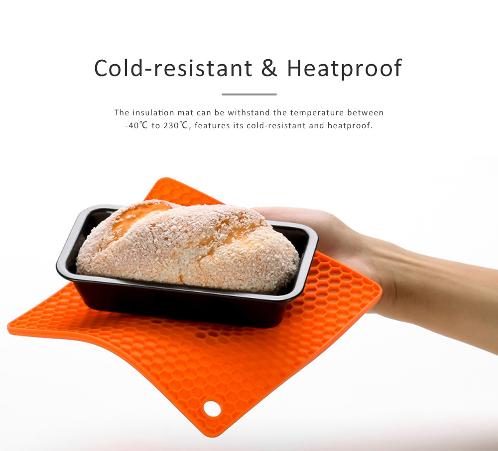 Insulation Mat Honeycomb Silicone Material Elastic for Hot Vessels Pad Anti-slip Table Holder 2