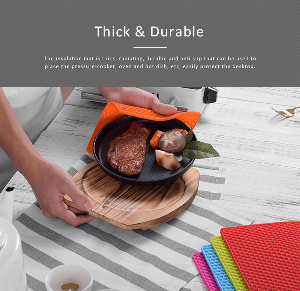 Insulation Mat Honeycomb Silicone Material Elastic for Hot Vessels Pad Anti-slip Table Holder 3
