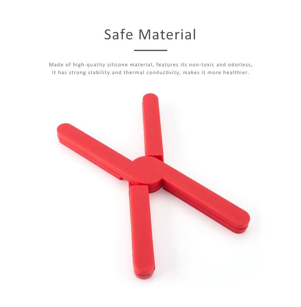 Expandable Silicone Trivet, Folding Pot Mat Heatproof Holder for Table Bowl Dish Durable Heat Pad 1