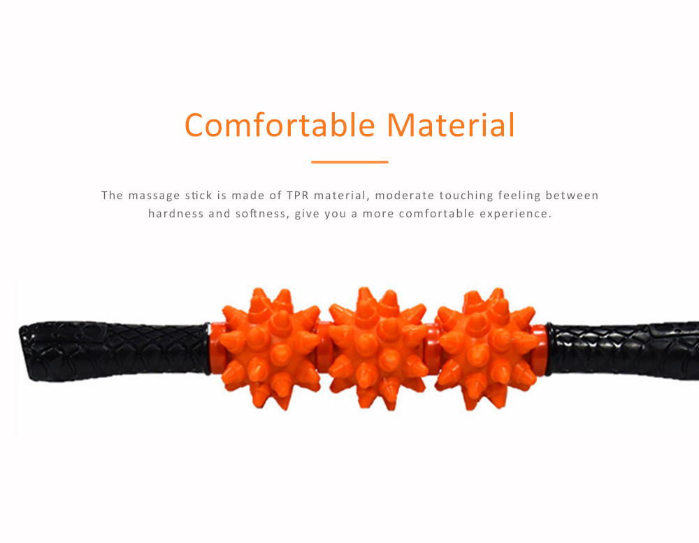 Massage Stick TPR Material Bumps Shape for Fitness Relaxing Massage Body-building Device 3