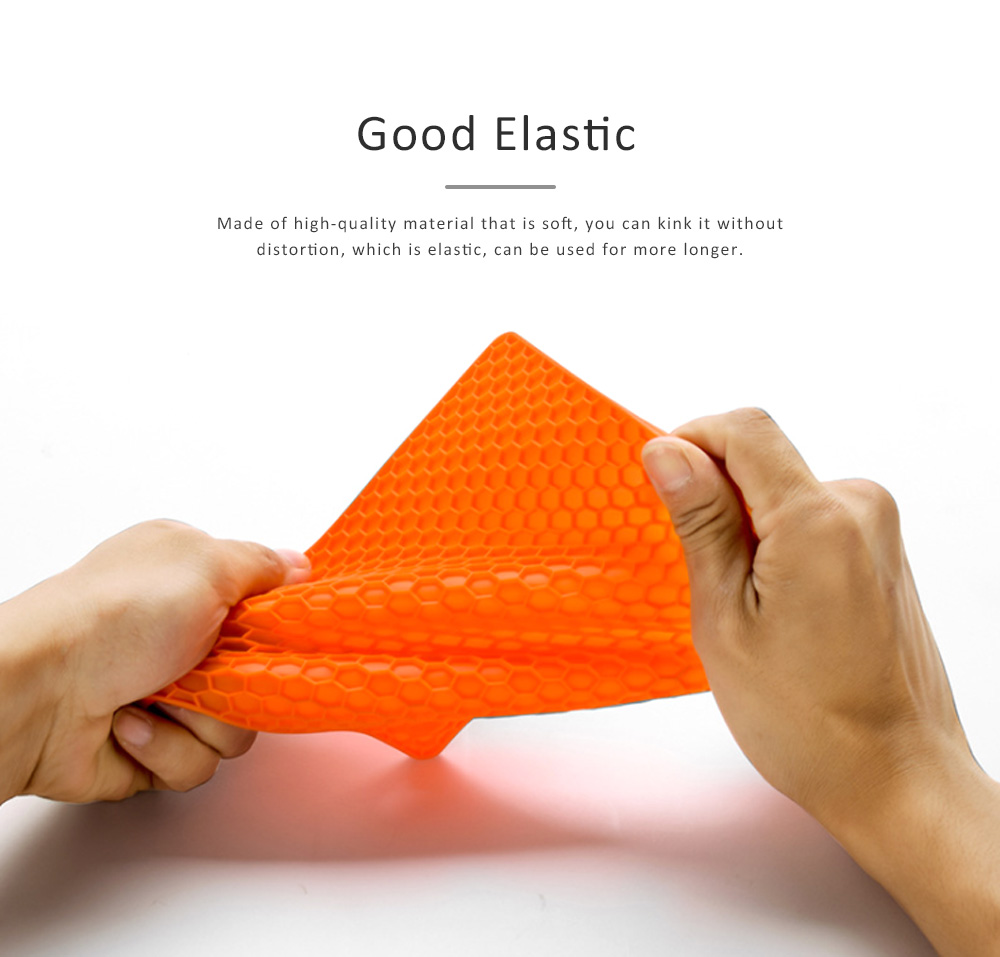 Insulation Mat Honeycomb Silicone Material Elastic for Hot Vessels Pad Anti-slip Table Holder 4
