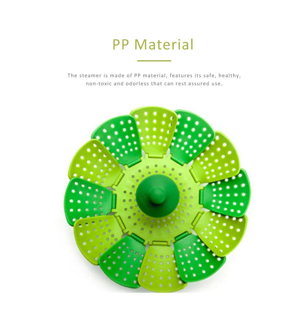 Steamer PP Folding Rack for Placing Foods Fruit Kitchen Tool Plastic Basket 1
