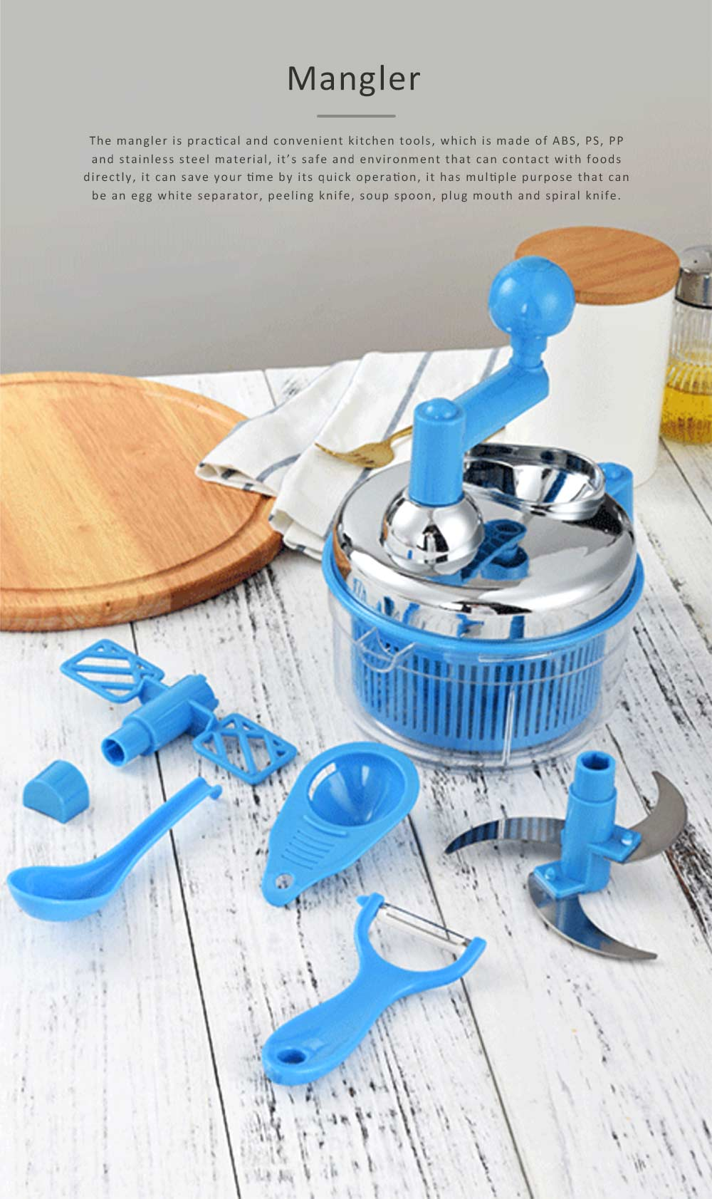 Meat Grinder Stainless Steel ABS Material Practical Slicer for Foods Cutter Multifunctional Mangler 0