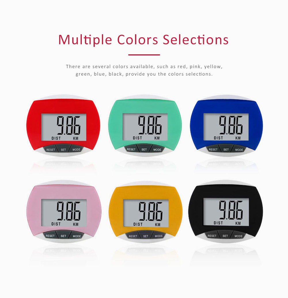 Small Acrylic Pedometer for Calculating Step Multifunction Electronic Sport Device 4